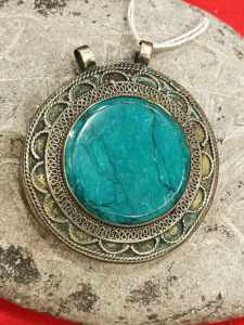 pendente afghano turchese