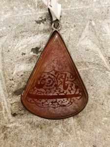 pendente afghano corniola con sura Corano