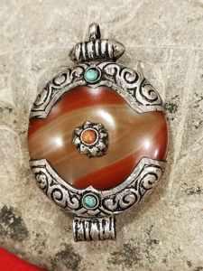 pendente tibetano agata