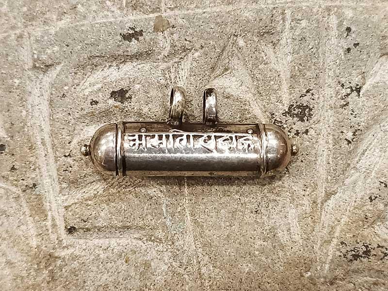 Pendente tibetano argento con porta preghiera