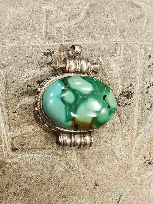 pendente tibetano GAO argento turchese