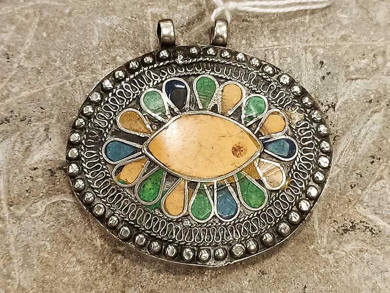 pendente turkmeno con smalti