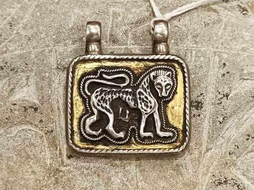 pendente persiano raffigurante leone e sole