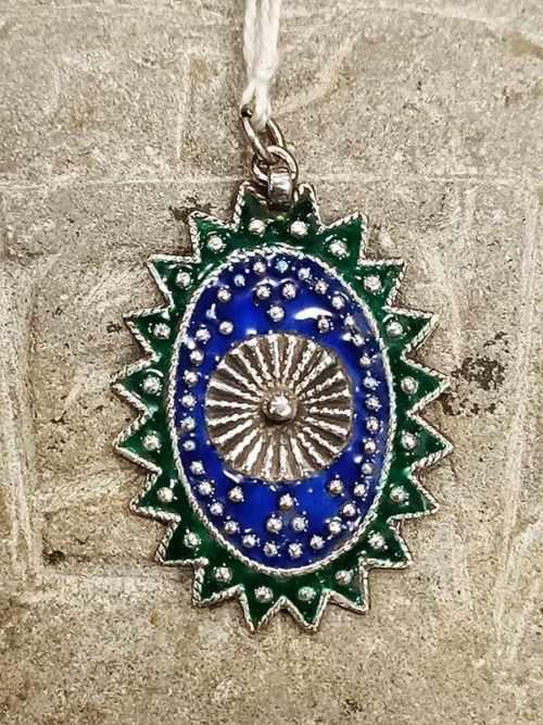 pendente afghano argento e smalti