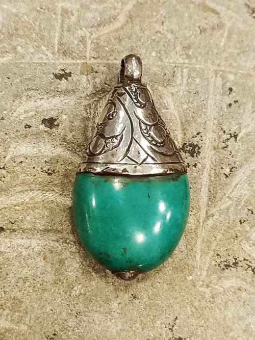 pendente tibetano turchese