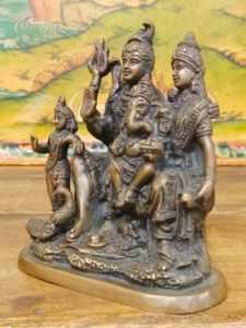 Statua di Shiva, Parvati, Ganesh, Kartikeya