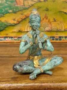 Statua Teppanom musicante del tempio